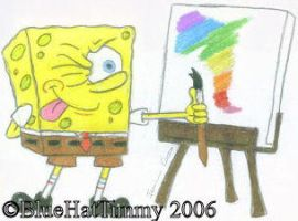 SpongeBob the Artist by BlueHatTimmy