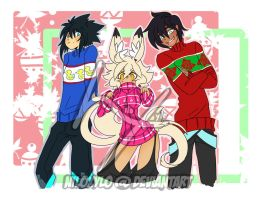 Xmas 2k13 Sweater Siblings by NiloXylo