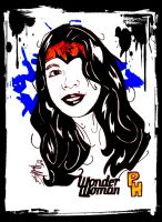 asian wonder woman by: phil horn by philhorn
