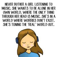 Girls And Their Music Quote by AmyLovesPenguins