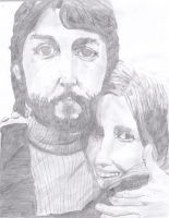 Paul and Linda McCartney by PSilovethebeatles