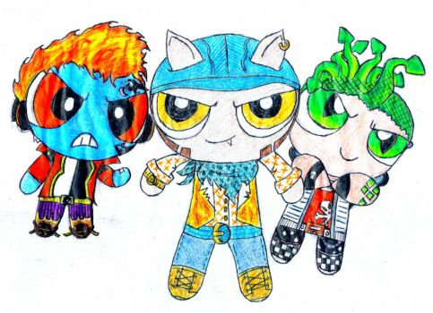 Monster High PowerPuffs- Holt, Clawd, Deuce by RandomObsessive