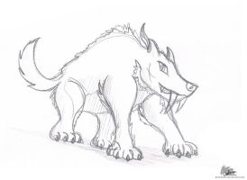 Saber-tooth tiger - First sketch by DrakebyRS