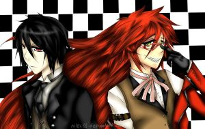 Sebastian and Grell by nilec88