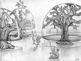 Glass Forest - sketch by MalfaitIvy