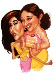 Sridevi and Kareena + cake by Spauldron