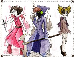 Vampires,reapers,and zombies by MESS-Anime-Artist