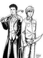 Angel and Henry - inks by Razia