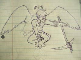 The Angel Of Love :Sketch: by Bloodstainedhowl
