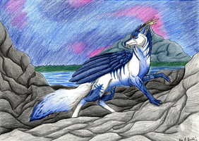 Commission- Climbing to the mountain by Narncolie