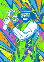 Macho Man Randy Savage - Total Wrestling mag cover by BloodySamoan