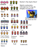 Ratchet's Tiny Sprite Sheet by Ratchetrules