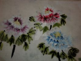Chinese Flower Painting by Wumzie