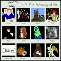 2013 Summary of Art by Daydallas