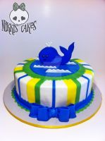 Sea Life Babyshower Cake by Corpse-Queen