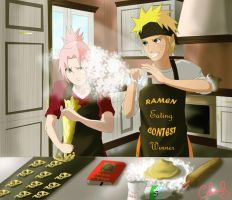 Narusaku week: cooking by Celious