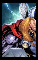 Thor print colored by adelsocorona