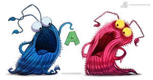 Daily Painting #888. Yip Yips by Cryptid-Creations