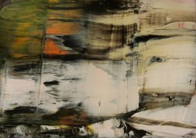 abstract with orange by LittleMine