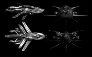 Type C Hornet Interceptor - technical view by keenansun