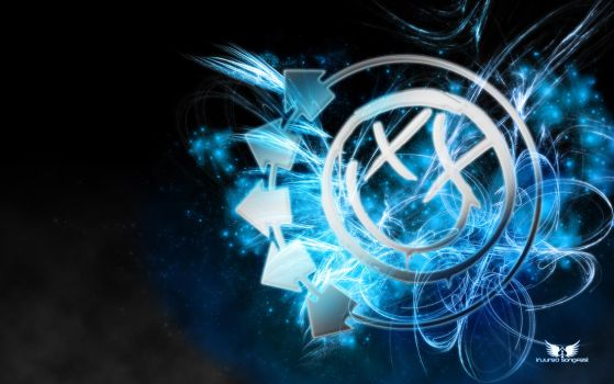 Blink-182 Smiley Electric Blue by TWe4k