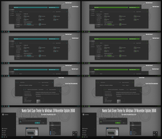 Numix Dark Cyan and Green Theme Win10 Build 10586  by Cleodesktop