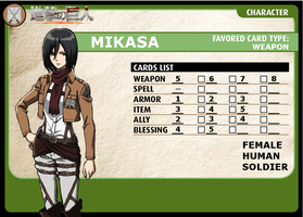 Pathfinder ACG Character: Mikasa (Part 3 of 4) by redguard153