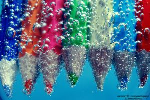 Bubble Pencils by lindahabiba