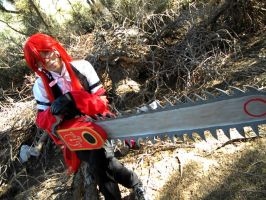Grell: This Is My Chainsaw... by kay-sama