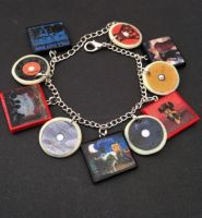 Fall Out Boy album charm bracelet/keychain UPDATED by InsaneJellyBean95