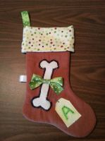 Dog's Christmas Stocking by LovelyLittleLemon