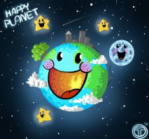 Little Happy planet Earth by Tysirr