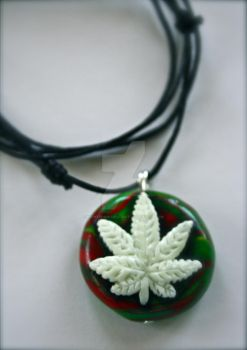 .leaf necklace. by MyInterminableZent