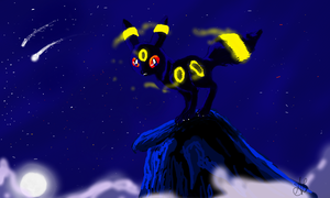 A Peaked Umbreon by Deepluver2