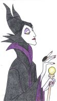 Malificent drawing by Debstar85