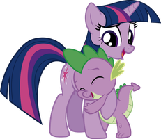 Twilight and Spike - Hug by j5a4
