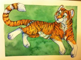 Tiger painting commission by nightspiritwing