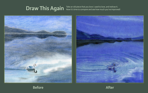 Draw this again! Evening Swan by stargateatl