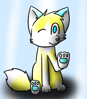 glowy fox yay +gift+ by CoolCodeCat
