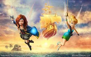 Tinkerbell and The Pirate Fairy 04 BestMovieWalls by BestMovieWalls