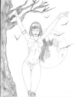Vampirella-BW-post by Spyhawk824