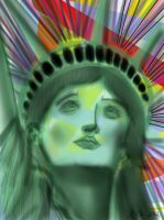 Statue of liberty digital art using sketchbook iPa by Jylm75