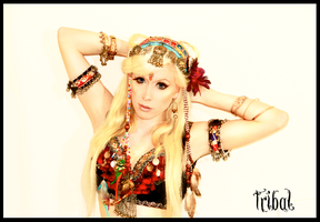 Tribal Fusion belly dance costume by the-little-skylark
