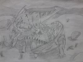 Sketch - Pylraster vs Devil Jho by Icedragon300