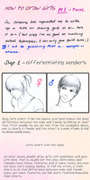 Drawing Girls Tutorial - Pt. 1 by waterpieces