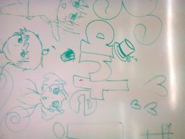 xD Random Art in the classroom by SandyLic