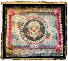 Sugar Skull Pendulum Board by grimdeva