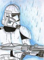 Clone in the rain by Funtimes
