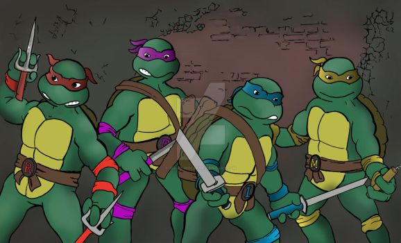 Tmnt color by isaac-wolfe