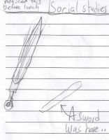 Daily Sketches 7: A Sword Was Here by Annaley